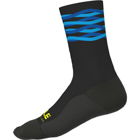 Alé Cycling Speedfondo Winter Calcetines, black-turquoise